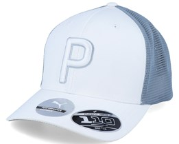 P Bright White/Steel Blue 110 Trucker - Puma