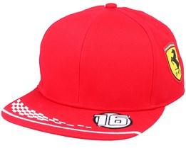 Ferrari Leclerc Cap Red Snapback - Formula One