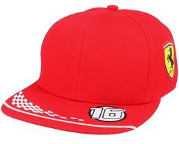 Kids Ferrari Leclerc Cap Red Snapback - Formula One