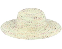Floppy With Colorful Yarn Spots Ivory Sun Hat - Seeberger