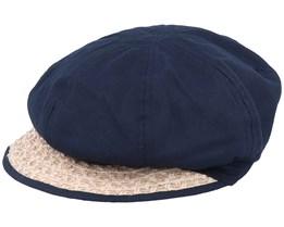 Balloncap Material Mix Black/Sand Flat Cap - Seeberger