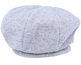 Wool Blend Heather Grey Beret - Seeberger