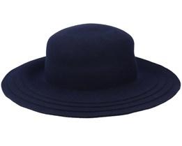 Felt bell with cut Navy Sun Hat - Seeberger