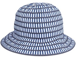Cloche In Materialmix Swallow Blue Bucket - Seeberger