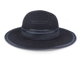 Floppy With Transparent Insert Black Sun Hat - Seeberger