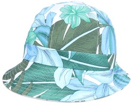 Cloche In Tropical Fabric White Bucket - Seeberger