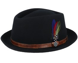 Diamond Woolfelt Black Pork Pie - Stetson