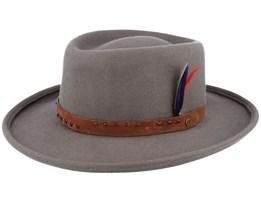 Fashion Western Filz Gambler Woolfelt Charcoal Traveler - Stetson
