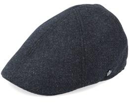 Duck Cap Wool/Cashmere Black Flat Cap - Lierys