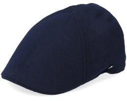 Duck Cap Wool/Cashmere Navy Flat Cap - Lierys
