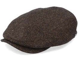 Driver Cap Wool Brown Flat Cap - Lierys