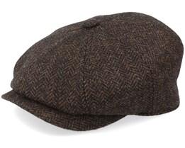 8-Panel Cap Wool Brown Flat Cap - Lierys