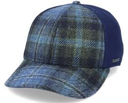 Plano W. Buckram Asi Baseball Cap Wool Check/Navy Fitted - Stetson