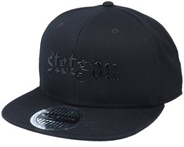 Baseball Cotton-1 Black Snapback - Stetson
