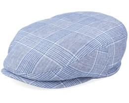 Kent Check Blue Flat Cap - Stetson