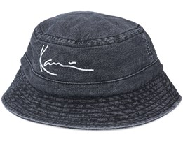 Signature Washed Black Denim Bucket - Karl Kani