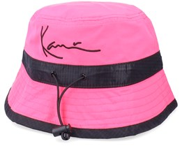 Signature Bucket Hat Pink Bucket - Karl Kani