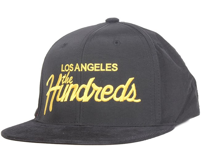 d71706a617b Team Black Snapback - The Hundreds cap - Hatstore.co.in
