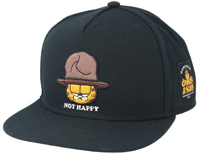 Not Happy Garfield Black Snapback - Cayler   Sons caps  e69132fa0285