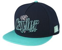 Lights Navy/Mint Snapback - Cayler & Sons