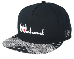 Westcoast Black/White Snapback - Cayler & Sons