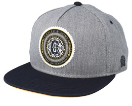 Finest Quality Grey/Navy Snapback - Cayler & Sons