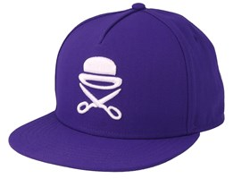 Icon Purple/White Snapback - Cayler & Sons
