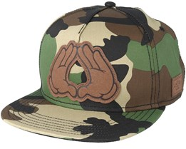 Dynasty Lux Woodland/Black Snapback - Cayler & Sons