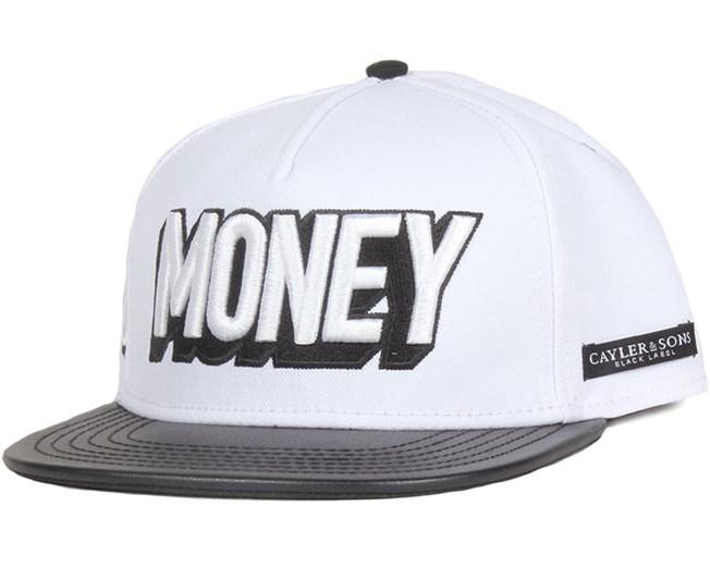 7be5eb666e7 Black Label Money White Snapback - Cayler   Sons caps