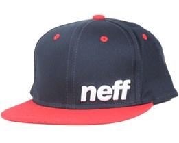 Daily Navy/Red Snapback - Neff