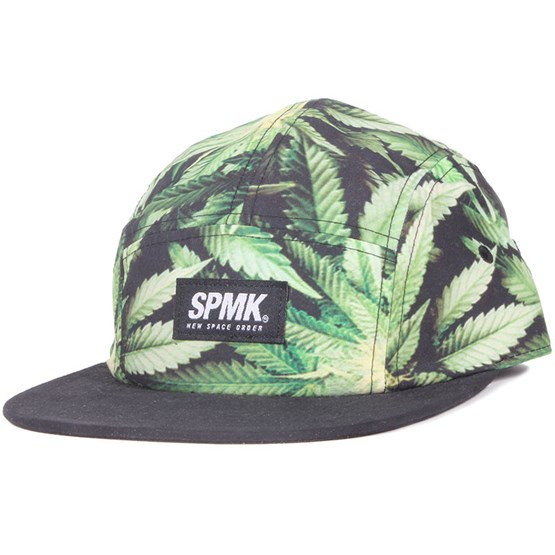 Keps Weed 2 Green 5-Panel - Space Monkey - Grön 5-Panel