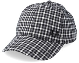 Baseball Cap Check Charcoal Adjustable - Fred Perry