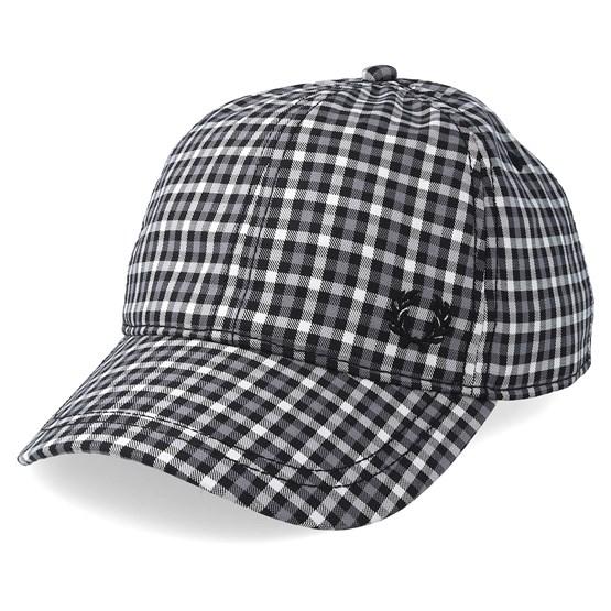 Keps Baseball Cap Check Charcoal Adjustable - Fred Perry - Grå Reglerbar