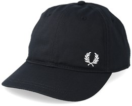 Baseball Cap Black/White Adjustable - Fred Perry