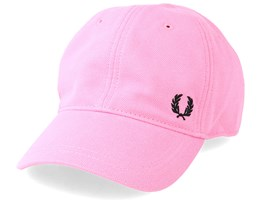 Pique Classic Cap Bright Pink Adjustable - Fred Perry