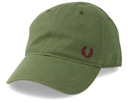 Pique Classic Cap Cypress Green Adjustable - Fred Perry