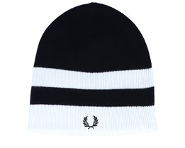Bold Tipped Black/White Beanie - Fred Perry