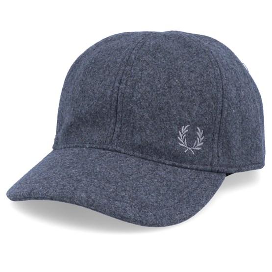 Keps Wool Blend Mid Grey Adjustable - Fred Perry - Grå Dad Cap