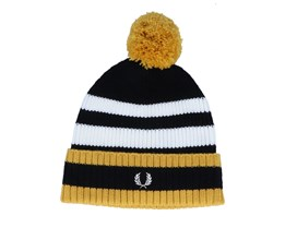 Chunky Tipped Black/Gold Pom - Fred Perry
