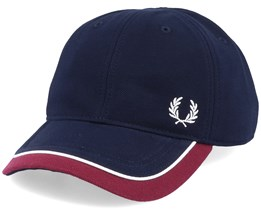 Blocked Pique Navy/Maroon Adjustable - Fred Perry