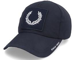 Laurel W Brand Cap Black Dad Cap - Fred Perry
