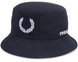 Laurel W B Hat Black Bucket - Fred Perry