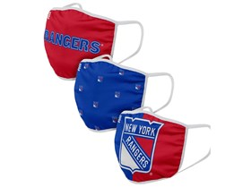 New York Rangers 3-Pack NHL Red/Blue Face Mask - Foco