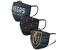 Vegas Golden Knights 3-Pack NHL Black/Grey/Gold Face Mask - Foco