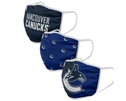 Vancouver Canucks 3-Pack NHL Navy Face Mask - Foco