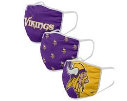 Minnesota Vikings 3-Pack NFL Purple Face Mask - Foco