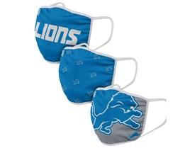 Detroit Lions NFL Blue Face Mask - Foco