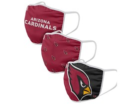 Arizona Cardinals 3-Pack NFL Red Face Mask - Foco
