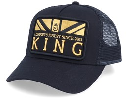 The Monarch Black/Gold Trucker - King Apparel