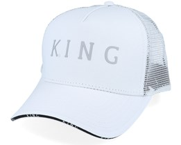 Stepney Curved White Trucker - King Apparel